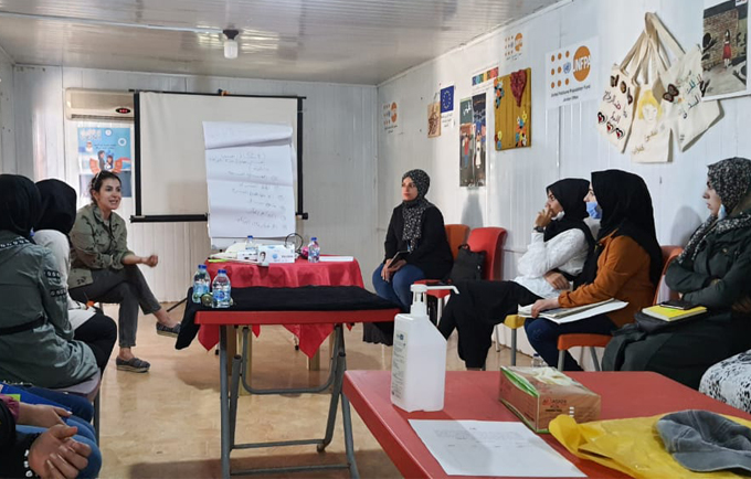 Girls from Zaatari Camp speaking out against conflict-related sexual violence