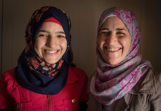 """Mother and Child Say """"No"""" to Child Marriage in Zaatari"""