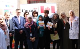 CANADIAN MINISTER OF INTERNATIONAL DEVELOPMENT AND LA FRANCOPHONIE VISITS UNFPA SUPPORTED CLINIC IN JORDAN