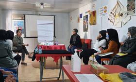 فتيات من مخيم الزعتري يعبرن عن العنف الجنسي المرتبط بالنزاع من خلال الفنون