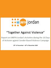 UNFPA Jordan commemorating the 16 Days Campaign in 2020